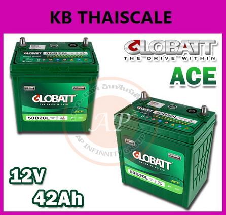 แบตเตอรี่ Lead Acid ยี่ห้อ GLOBATT รุ่น ACE 12V แบตเตอรี่รถยนต์