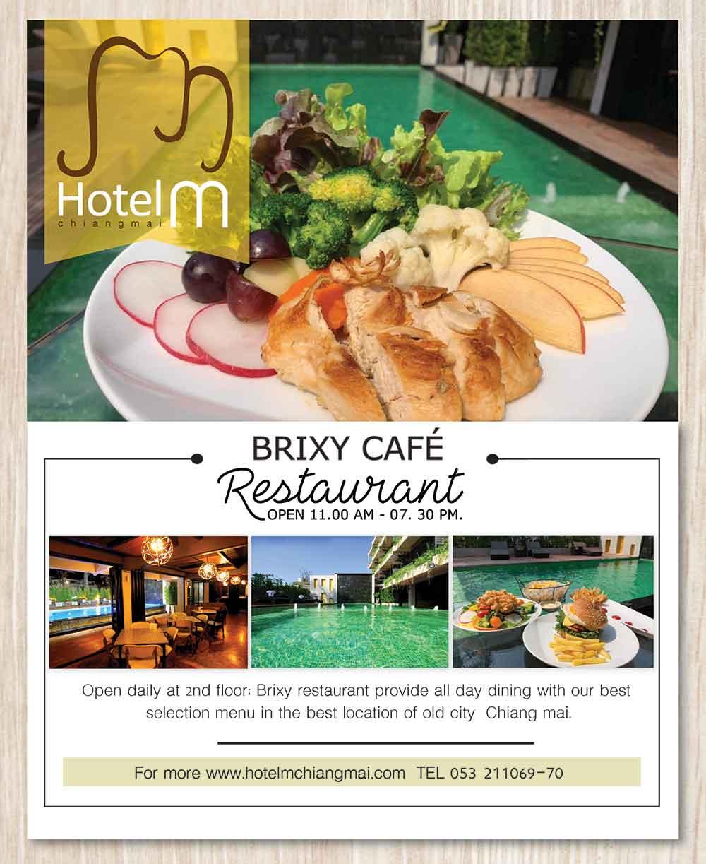 Brixy Cafe at Hotel M Chiang Mai
