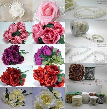จำหน่าย ดอกไม้ปลอม อุปกณ์งานแต่ง ของตกแต่ง นำเข้า