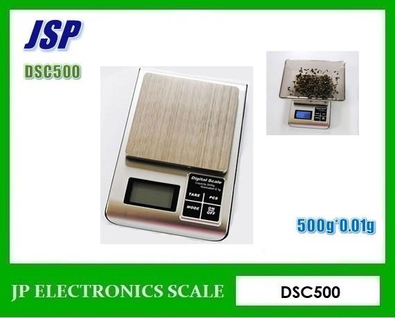 เครื่องชั่งแบบพกพา500g เครื่องชั่งดิจิตอล500กรัม ยี่ห้อ JSP รุ่น DSC-500
